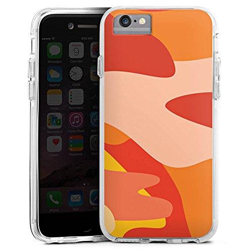 DeinDesign Cover kompatibel mit Apple iPhone 6s Bumper Hülle Bumper Case Schutzhülle Camouflage Bundeswehr Orange