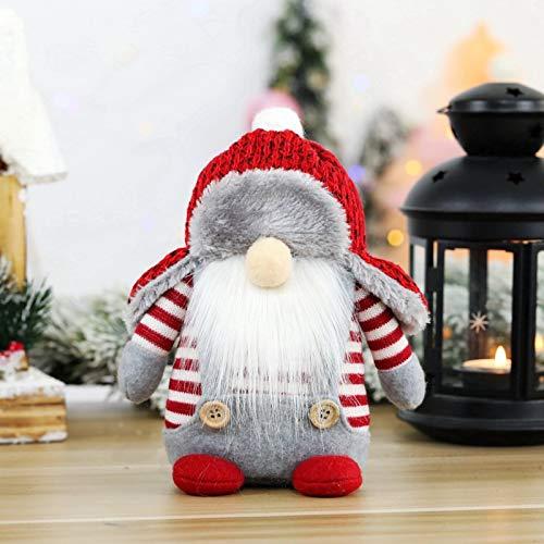 langchao Decoraciones navideñas Adornos de Papá Noel Muñecas navideñas sin Rostro Decoraciones para Ventanas
