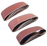 Sackorange 12 PCS 4 inch x 36 inch Sanding Belts - 4 Each of 80 120 150 Grit Aluminum Oxide Sanding Belts For Belt sander (4x36in)