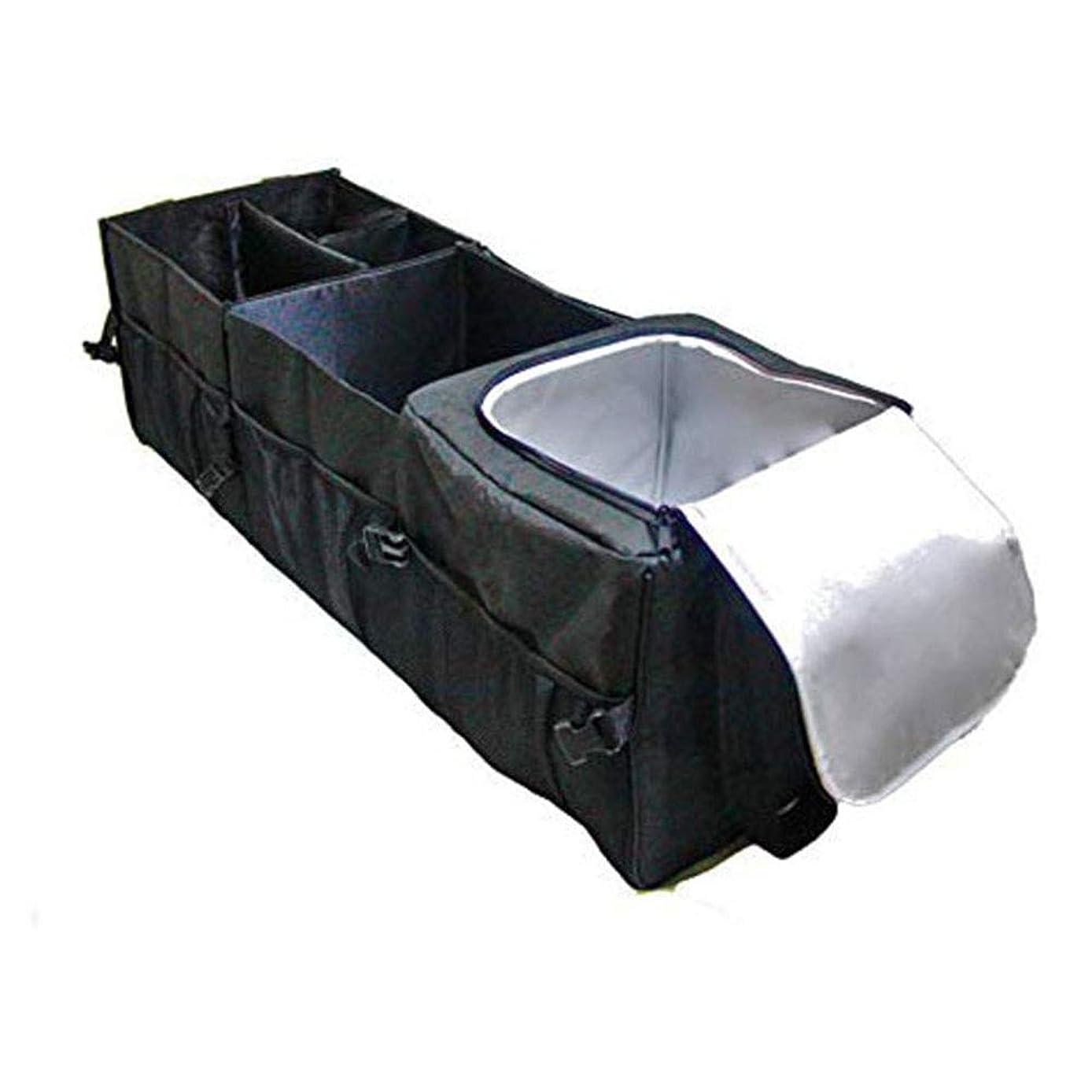 うねる生息地広々車のトランクの主催者、食料品は優れた絶縁材が付いている箱のトラックのキャディーバッグを整理しますクーラーは袋に入れます12のポケット調節可能な多機能耐久財黒