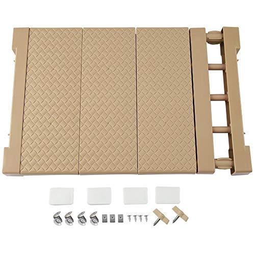 FTVOGUE Compartimento de Estante de Almacenamiento en Rack de Almacenamiento Ajustable Extensible para Armario de Cocina Refrigerador Armario Compartimiento de compartimientos(M)