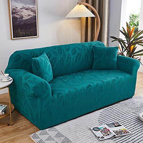 Moderno set di divani in poliestere, elegante coprimobili/protettore lavabile, striscia antiscivolo in schiuma e 1 federa per cuscino, protezione divano in tessuto elastico.