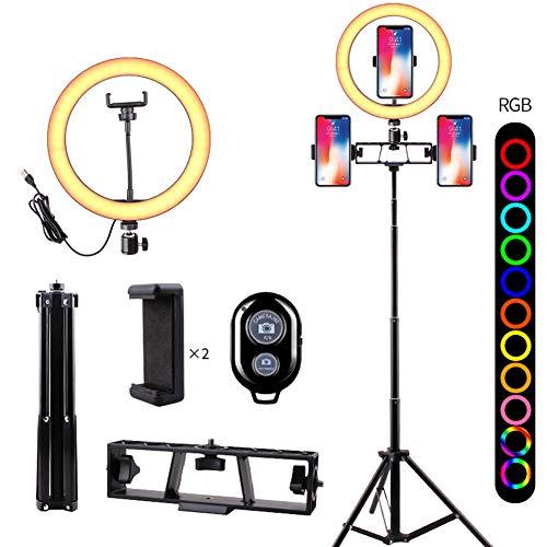 26 cm / 10,2 inch LED-ringlichtset Instelbare YouTube-lichtring met lichtstandaard, werkt met smartphone en spiegelreflexcamera voor video-opnamen