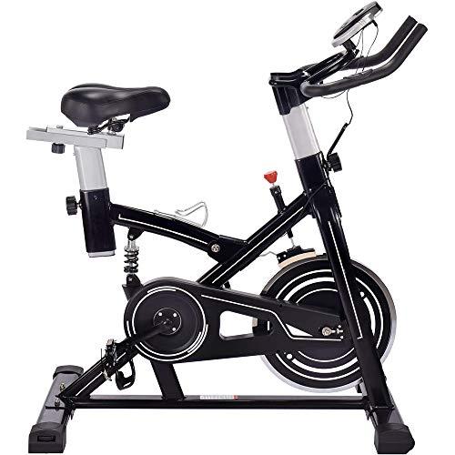Ciclette per Casa Bike Magnetica Freno a Frizione Micro Regolazione di Sellino E Manubrio, Attrezzatura per L'allenamento di Allenamento Comoda Sella per Cuscino