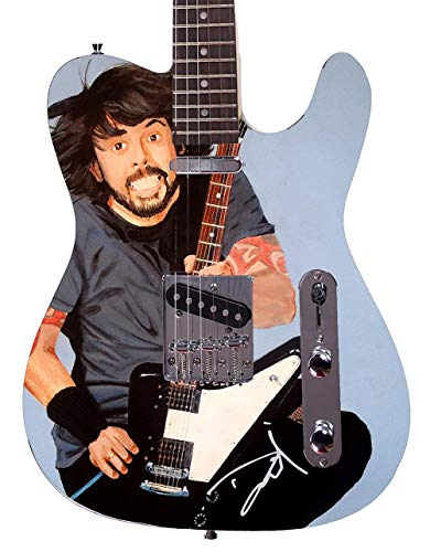 Nirvana Foo Fighters Dave Grohl Facsimile Signature Custom Graphics Guitar - Guitars