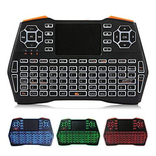 Belleashy Teclado inalámbrico 2.4G Mini teclado inalámbrico para PC portátil Smart TV Gaming