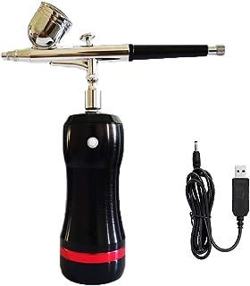 HXZB Multi-Purpose Airbrush Kit avec Batterie Amovible Au Lithium, Set Spray Rechargeable USB Portable avec Pistolet sans ...