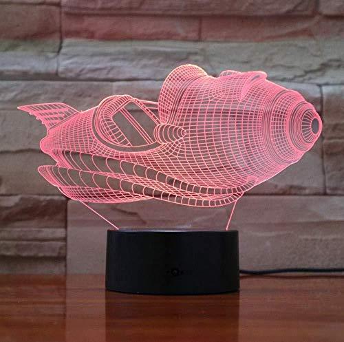 3D Night Light Time Air Halloween Lava Hobbies 7 colores Decoración Luz de mesa Ilusión óptica Cambio con control remoto Regalos de cumpleaños para