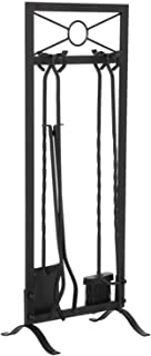 Fireside Companion Tool Set طقم أداة الموفر مع قاعدة فرشاة مجرفة ملقط البوكر الموقد الملحقات أدوات مدفأة مجموعة Fire Place...