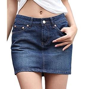 Women's Casual Short Mini Denim Skirt