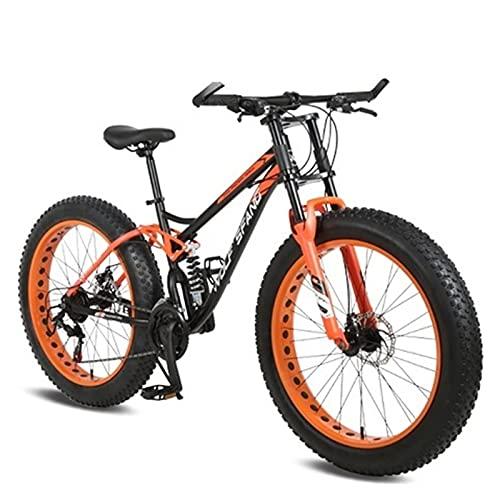 Story Bicicleta 26 Pulgadas 21 velocidades Fat Mountain Bike Bikes MTB Hombre Bici Bike BMX Primavera Bifurcación Bicicleta (Color : 40-Black Orange)