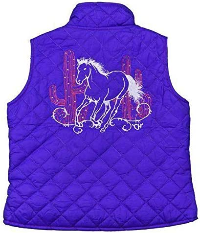 Cowgirl Hardware Girls Purple Cacti Quilted Vest 486163-190