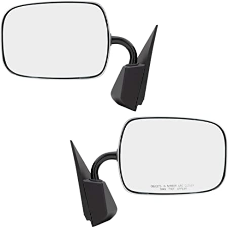 LUJUNTEC Right Side View Mirror Fits for 1992-1994 Chevrolet Blazer Pickup Truck Suburban Tahoe GMC Jimmy Yukon Manual Fold Non-Heated Black 15150849 GM1321122