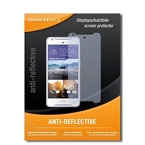SWIDO Schutzfolie für HTC Desire 628 Dual SIM [2 Stück] Anti-Reflex MATT Entspiegelnd, Hoher Härtegrad, Schutz vor Kratzer/Displayschutz, Displayschutzfolie, Panzerglas-Folie