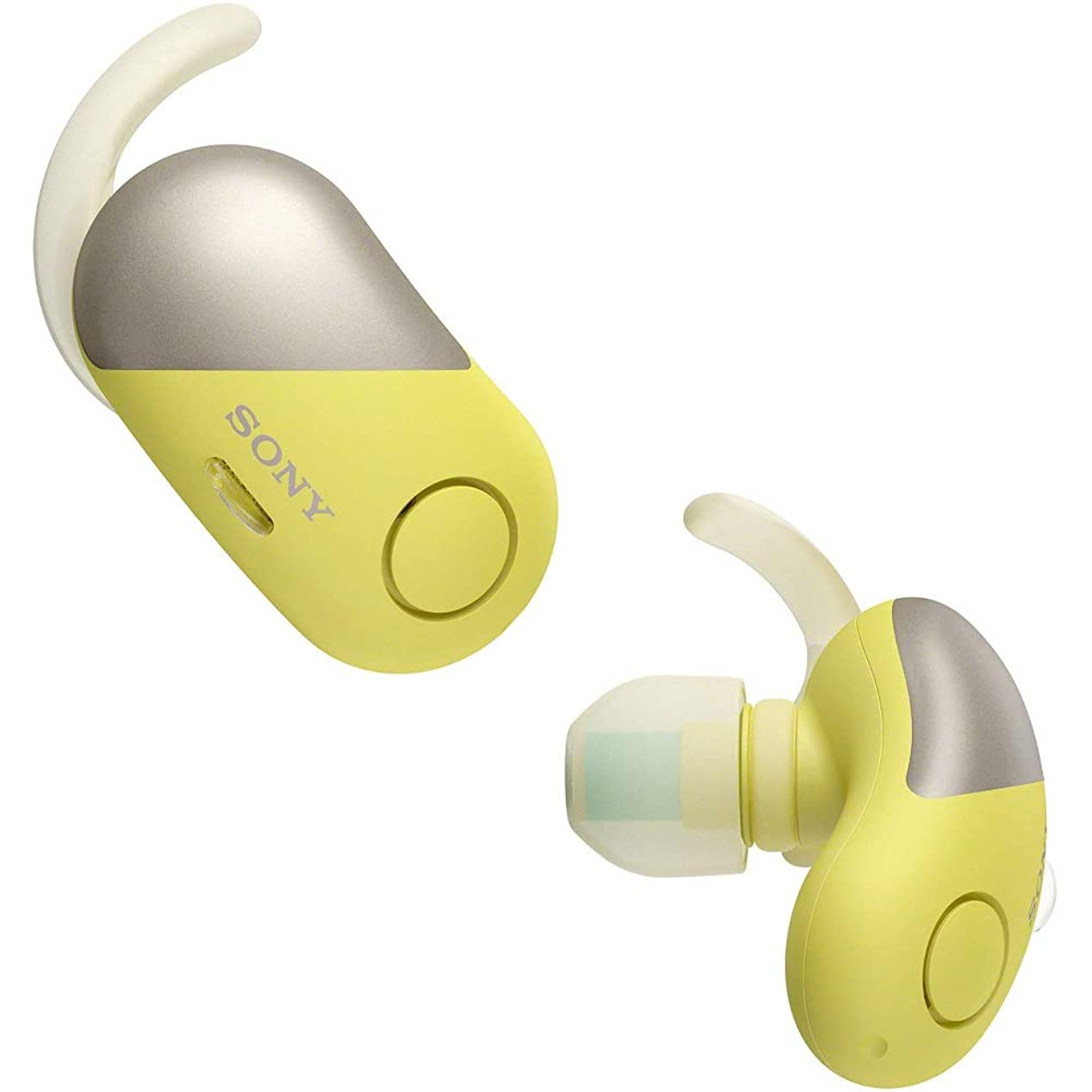 ラップ不愉快ラインナップSony WF-SP700N スポーツ用ワイヤレスノイズキャンセリングヘッドフォン WFSP700N Yellow [並行輸入品]