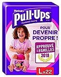 Huggies Pull-Ups Fille Taille 6/Large (16 -23 kg), Couche-Culotte d'Apprentissage de la Propreté Disney Princesses, 22 culottes