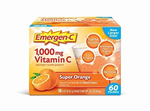 Emergen-C Vitamin C Drink Mix - Super Orange - 60 ct by Emer