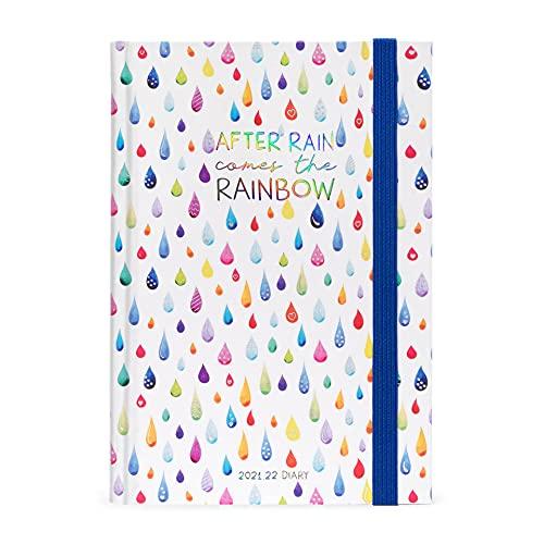 Legami Agenda Giornaliera, 16 Mesi - Medium, 12 x 18 cm, Multicolore (After Rain)