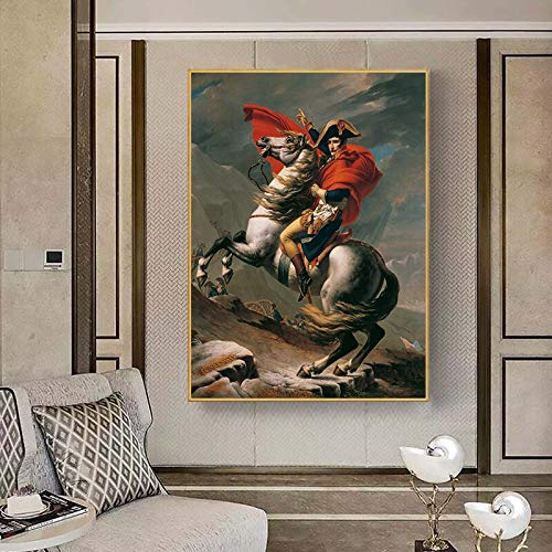 wZUN Famous paintings through the Alps Canvas posters and prints mural pictures for living room home decoration 60X80 Frameless