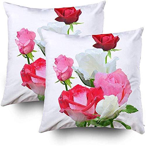 Niet van toepassing bank kussensloop, gooi vierkant decoratieve kussensloop, kussenslopen mooie geurige bloem Wond Thuis bank Decor Sets 2 PCS kussensloop