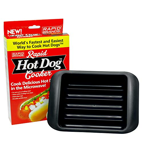 Rapid Hot Dog Cooker   Microwave Hot Dogs in 2 Minutes   Perfect for Dorm, Small Kitchen, or Office...