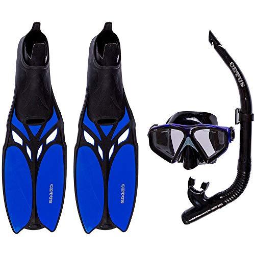 Kit de Mergulho Máscara+respirador+nadadeiras Cetus Shark Fun - 35-36