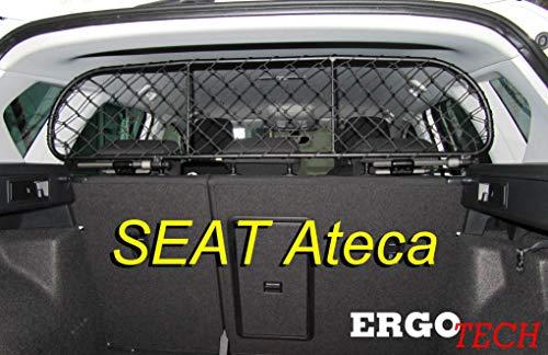 ERGOTECH Filet Grille de séparation Coffre pour Seat Ateca, RDA65-S8, pour Chiens et Bagage