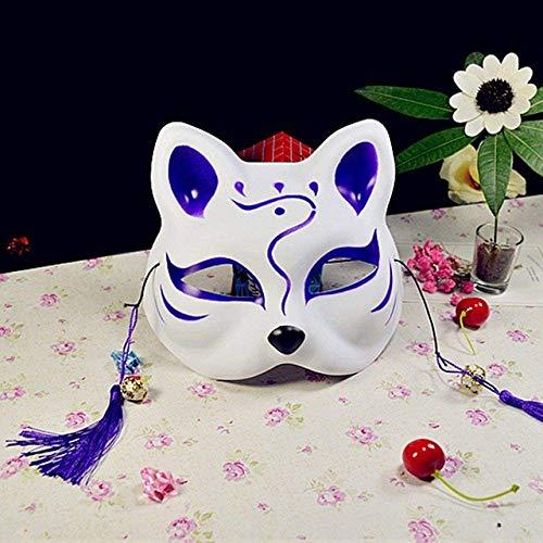 Máscara de Halloween, máscara de Halloween Waylike Halbe Gesicht Katze Anime Fuchs Oscuro Maske Cosplay Bola Kostm Requisiten Maskerade Kleid hasta Dance Party WDDT
