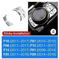 新車クロームボタンカバー Bmw F10 F07 F12 F13 F20 F30 F32 オプションオートインテリアアクセサリー 1 セット-B