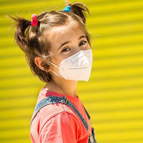 10 UNIDADES Mascarilla INFANTIL FFP2 desechable niños normativa EN149:2001+AL: 2009 y CE