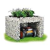 Bellissa Garage Tondeuse Robot Gabion - Abri de Jardin pour Tondeuse à Gazon 97296 - Bac à Fleur Décoratif 30 Litres...