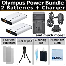 2 LI-50B Batteries + AC/DC Turbo Charger with Travel Adapter + Complete Deluxe Kit for Olympus MJU 1010 1020 1030SW SH-21 SH21 SH-25MR SH25 SP-720UZ SP720UZ SP-800UZ SP800UZ SP-810UZ SP810UZ 1010 1020 1030SW 1030SW 9000 Tough-6000 6000 6020 8000 Tough-8010 8010 SZ-10 SZ10 SZ-11 SZ11 SZ-12 SZ12 SZ-14 SZ14 SZ-15 SZ15 SZ-16 SZ16 SZ-20 SZ20 SZ-30MR Z30MR SZ-31MR SZ31MR TG-610 TG610 TG-620 TG620 TG-630 TG630 TG-810 TG810 TG-820 his Camera LI50B