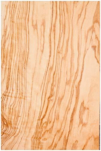 Wallario Glasbild Holzmuster - Oberfläche mit Holzmaserung VI - 60 x 90 cm in Premium-Qualität: Brillante Farben, freischwebende Optik