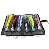 OCEAN CAT Set of 6 6'' inch Offshore Big Game Trolling Lure for Marlin Tuna Mahi Dolphin Durado Wahoo Trolling Lures...