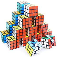 Puzzle toy, includes 30mini magic cube, is crafted with Eco-friendly ABS plastic material, which has non-toxic, odorless features. Cube toy, a favorite for party favor ideas for ages, Provides hours of enjoyable game play that great for boys and girl...