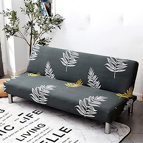 XJHKG Funda De Sofá Sin Brazos, 3 Plazas Plegable Elástica Cubierta Funda para Cubre Sofá Cama Clic Clac Protector para Futón Couch Bench (A-20,S(120-150cm))