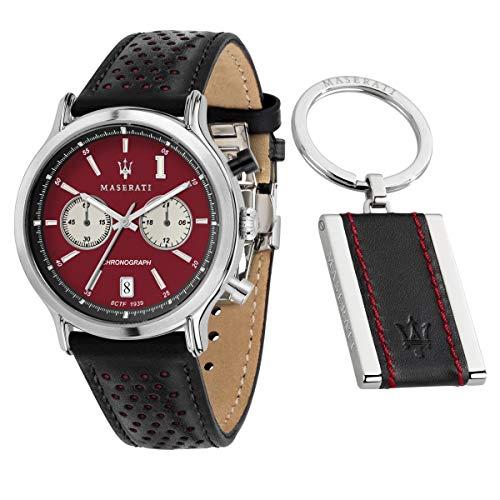 Orologio da uomo, Collezione LEGEND, in acciaio, cuoio, con portachiavi - R8871638002