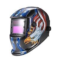 KKmoon Arc Tig Mig Grinding Eagle, Máscara de soldador de soldador de oscurec...
