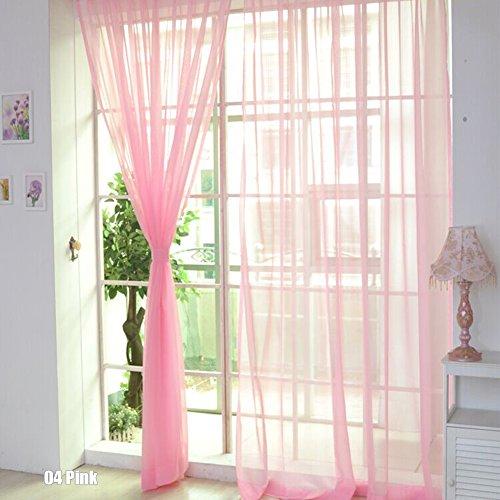 Rungao 1pc Fenêtre de Rideaux Voilage Papillon Rideaux Souple Demi Transparent Décoration Maison Chambre
