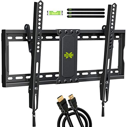 """USX MOUNT TV Wall Mount Tilting Brackets for Most 37""""-70"""" LED 4K OLED Flat Screens, TV Mount with Max VESA 600x400mm and Weight Capacity 132lbs, Low Profile Space Saving for 16"""", 24"""" Stud"""