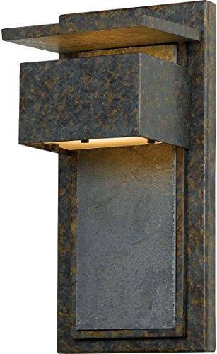 Quoizel ZP8414MD Zephyr Outdoor Unique Slate Wall Lantern Wall Mount Lighting, 1-Light, 50 Watt, Muted Bronze (14