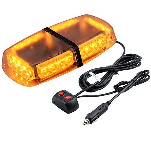 PROZOR Luz de Emergencia Estroboscópica 12V 24W LED 7 Modos 5m Cable Mechero para Tractor Remolque