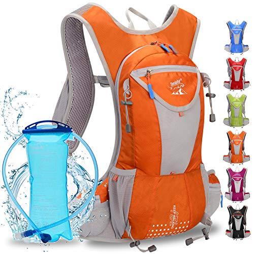 WLZP Mochila de hidratación con 2L Bolsa de Agua, Impermeable y Transpirable...