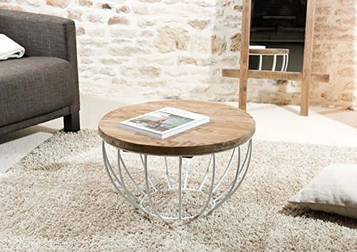 Macabane Table Basse Coque, Teck, Brun, 60 x 60 x 34,5 cm