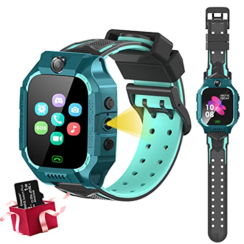 Smart Watch for Kids-Kids Phone Watch with Call 8 Games Camera MP3 Music Player Video Player Flashlight SOS Kids Digital Watch for Boys Girls Birthday Gifts Learning Toys for Children Age 4-12