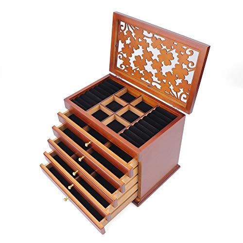 Carved 6 Layer Jewelry Box