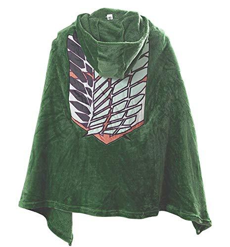 コンビ AOT Hoodie Blanket Pop Attack on Titan Eren Bataillon d'Exploration vêtements SNK Cosplay Mikasa