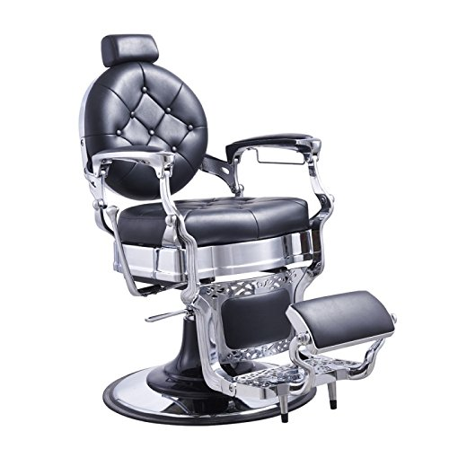 Heavy Duty Barber Chair Men's Grooming Barbershop Hydraulic Chair - Vanquish