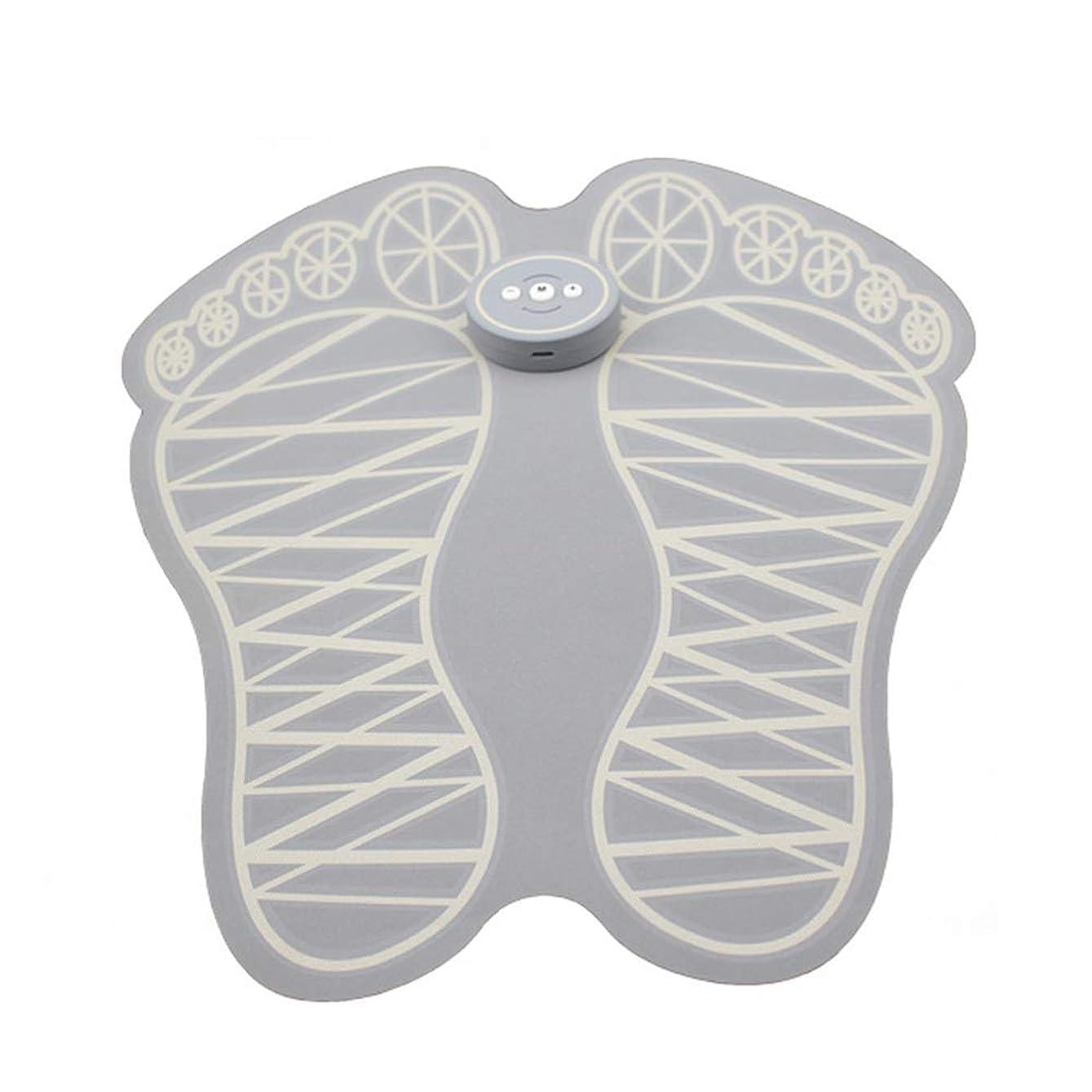 家操る望ましい電動フットマッサージャー、EMS電動マッサージクッションフットマッサージャーマシンマッスルマッサージャーマッスルスティミュレーターUSB充電式折りたたみ式ポータブルフットマッサージャー血液循環を促進