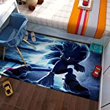 GOOCO Alfombra - Sonic The Hedgehog Door Mat Entrance Non-Slip Bath Mat Kitchen Floor Carpet Mat Absorbent Area Rugs